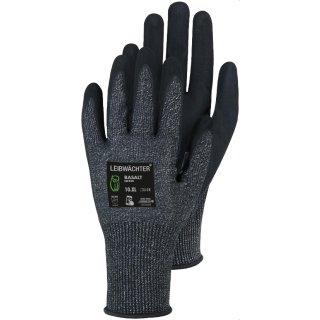 Leibwächter Basalt Nylon-Spandex-Handschuh mit Nitril, 1 Paar